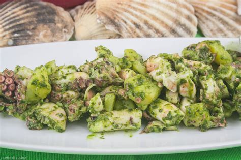 polpo in cucina insalata di polpo e patate in salsa verde ricette di cucina
