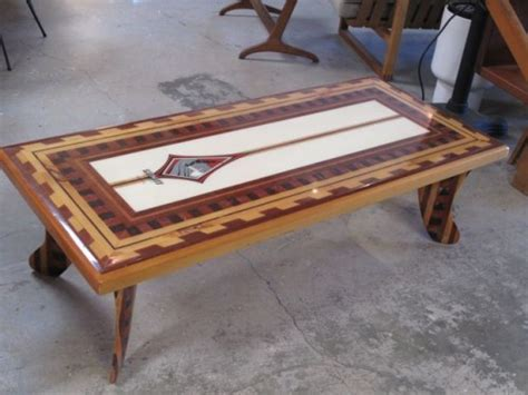 Table Handmade - handmade infinity surfboard coffee table
