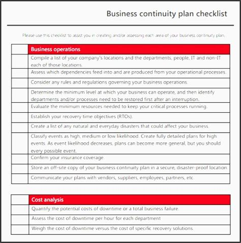 business continuity plan template australia 9 printable business continuity plan sletemplatess