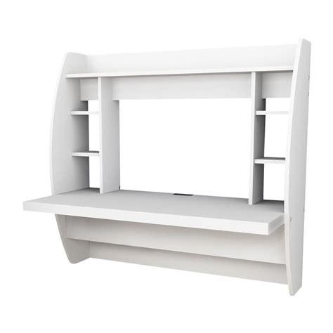 shop prepac furniture transitional white floating desk at