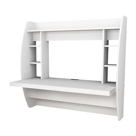 shop prepac furniture white wall mounted desk  lowescom