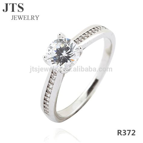 2016 sale wedding bands or rings 18k white gold cz
