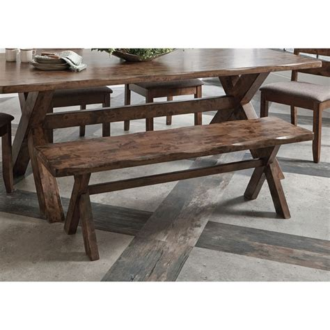 coaster bench coaster dining bench in knotty nutmeg 121183