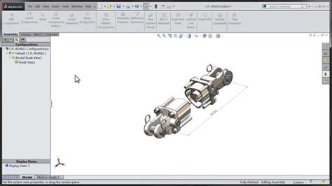 tutorial of solidworks 2015 tech tip solidworks 2015 tutorial assembly break views