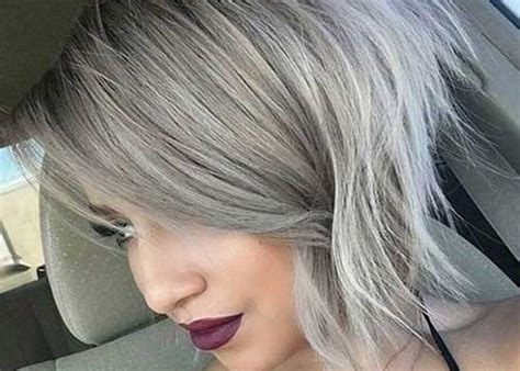 pictures of womens short dark hair with grey streaks short hair colors short hairstyles 2016 2017 most