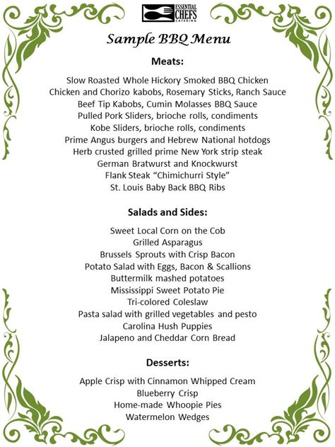 Backyard Menu by Backyard Bbq Menu Shore Ma And Boston