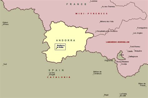 where is andorra on the map pin map of andorra topographical vidianicom maps on