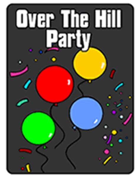 Over The Hill Printable Birthday Party Invitations The Hill Birthday Invitation Templates