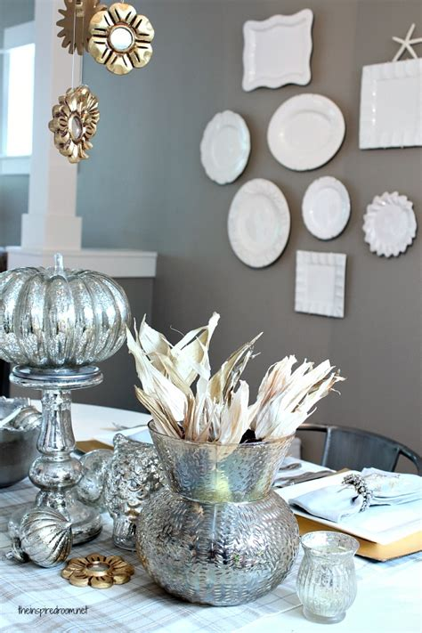 gold and silver home decor silver gold holiday table the inspired room