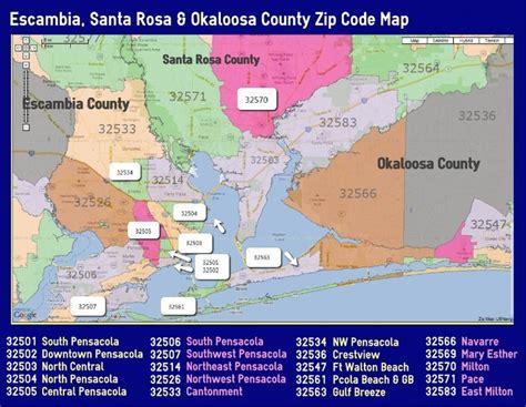 zip code map pensacola fl moving to pensacola area escambia santa rosa