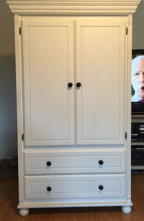 Bellini Armoire by Letgo Bellini Antique White In Highland Fl