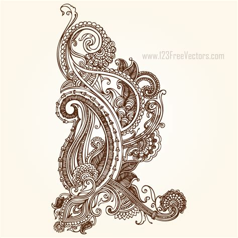 henna design vector free download henna paisley designs by 123freevectors on deviantart