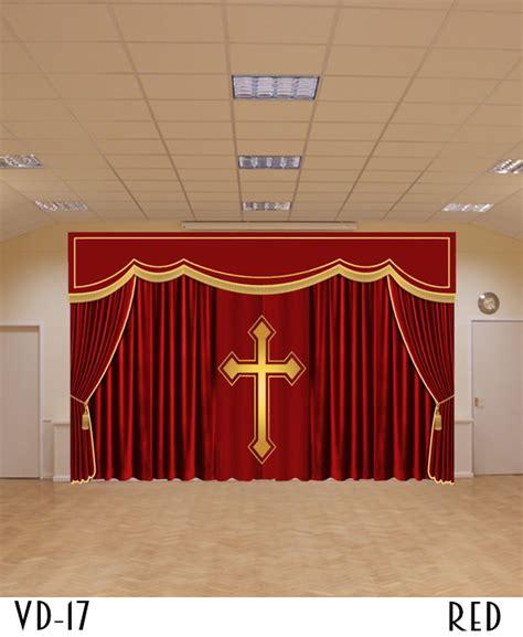 church drapes  backdrop