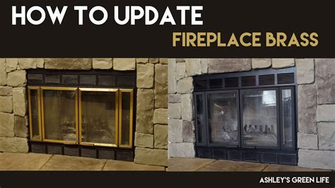 How To Cover A Fireplace With by S Green How To Update Fireplace Brass