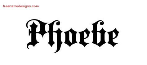 phoebe tattoo designs name designs phoebe free free name