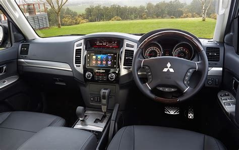 mitsubishi pajero interior 2016 2016 mitsubishi pajero drops manual gains apple carplay