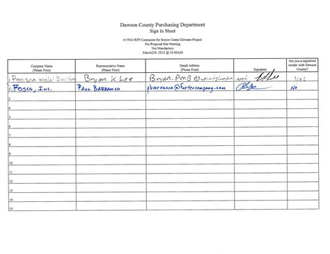 fair sign in sheet template 170 12 rfp contractor for senior center elevator project