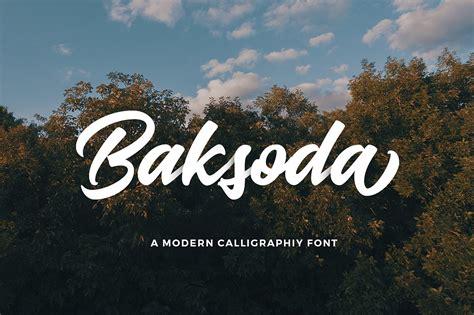baksoda script font befontscom