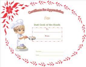 gratitude certificate template best cooking appreciation certificate template