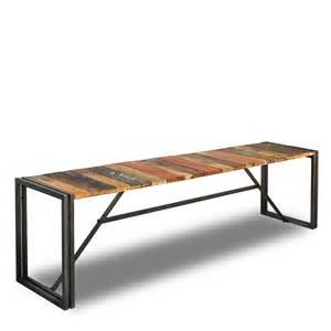 meuble style loft industriel banc 180cm en bois de
