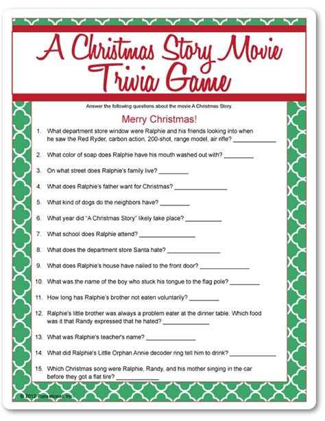 printable movie quotes quiz 17 best images about christmas story on pinterest elf on