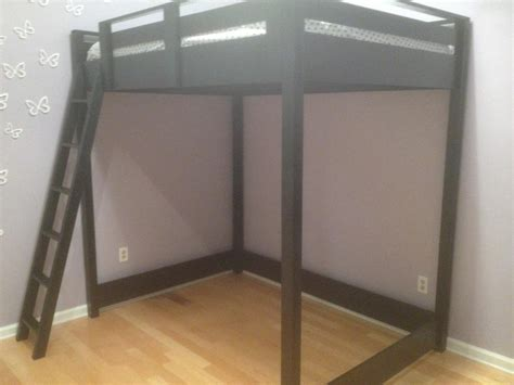 free plans for full size loft bed quick woodworking projects