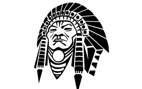 indian pattern logo indian chief vector image vector free download