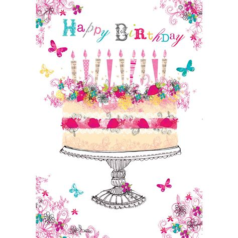 birthday card foil birthday cake birthday card by foundation