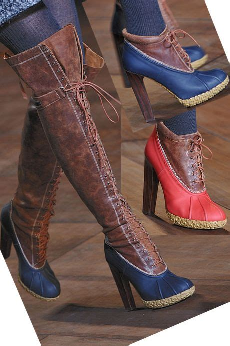 high heel duck boots i d be ready for the winter hilfiger duck boot