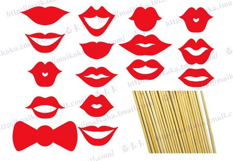 free printable moustache and lips photo booth props best photos of printable lips on a stick red lips photo