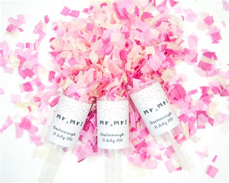 Confetti Popper 50 Wedding Confetti Push Pop Set Of 50 Wedding Favor Mr Mrs