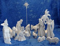 Porcelain Origami Nativity Set - 1000 images about nativity on nativity