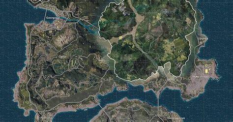 map overlayed  erangel  sense  size