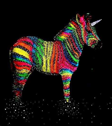 Colourful Arts Series 17 gallery unicorn colorful