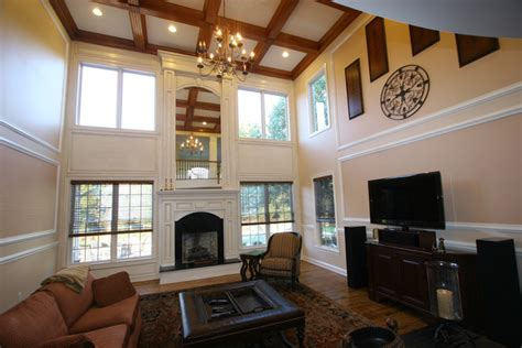 Floor To Ceiling Windows 5441 by Custom Fireplace Mantles Build Ins Traditional Living
