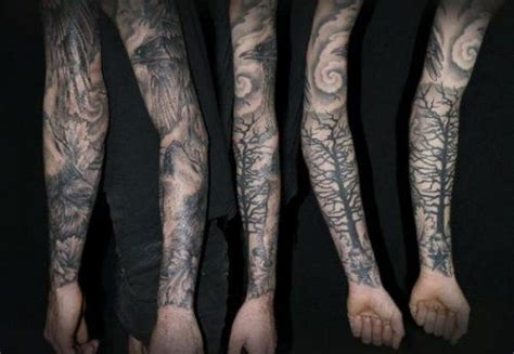 forest scene tattoo forests and on