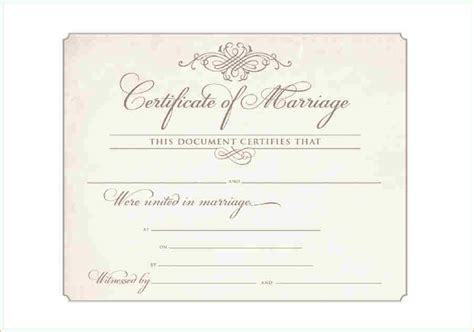 printable marriage certificate template 10 printable marriage certificate academic resume template