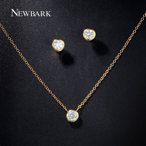 aliexpress buy newbark brand bridal jewelry set gold
