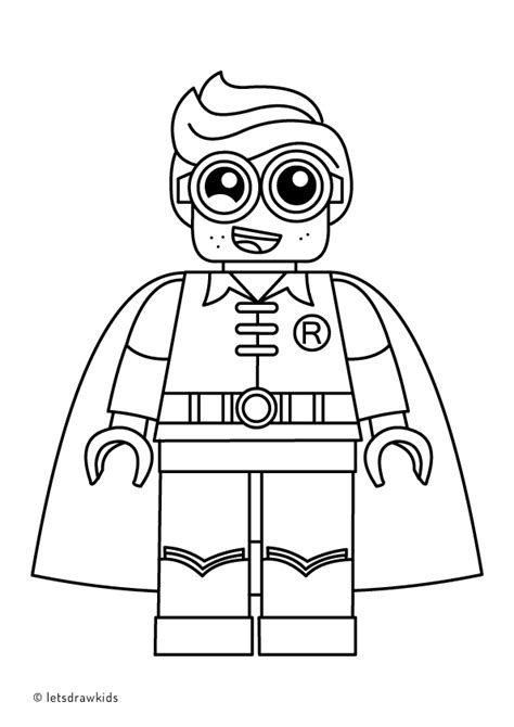 lego batman coloring pages coloring page for lego robin from the lego batman