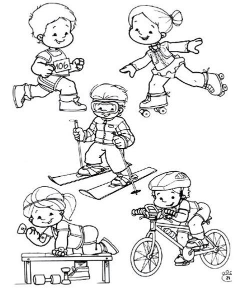 imagenes niños haciendo deporte para colorear deportes fichas para imprimir y colorear deportes