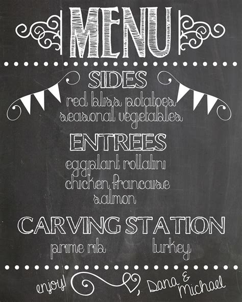 Menu Design Lettering | chalkboard art archives handmade is better