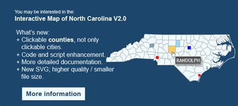interactive map of carolina interactive map of carolina by clickmaps codecanyon