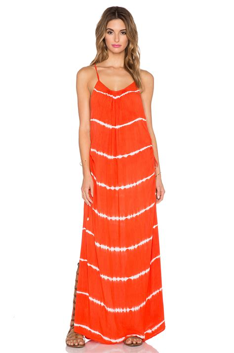 Dress Garis indah robin cinch maxi dress in orange garis orange lyst