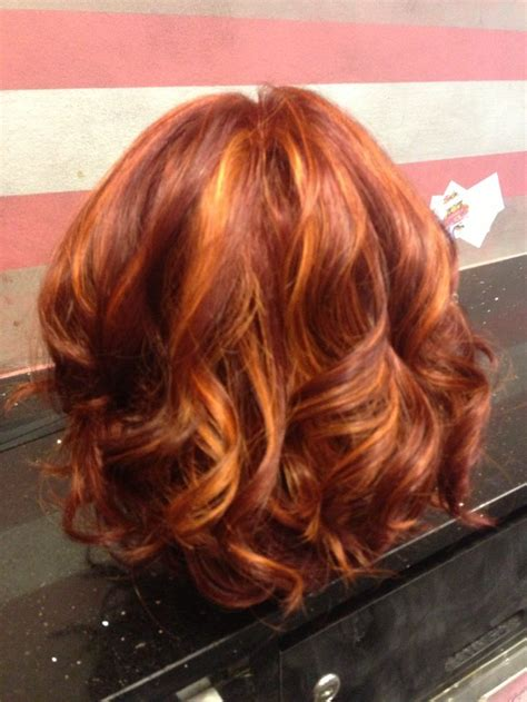 copper lowlights for short blonde hair 17 best images about hair cuts colour care on