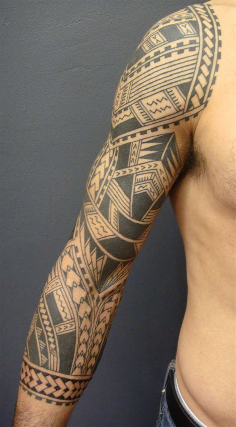 samoan full sleeve tattoo designs maori polynesian sleeve designs