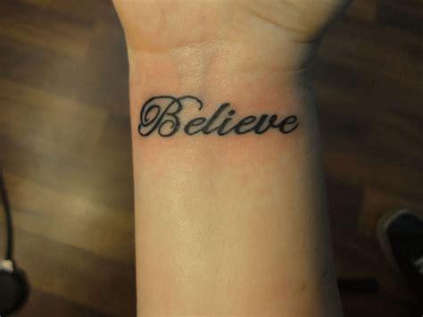 small believe tattoos small believe ambigram
