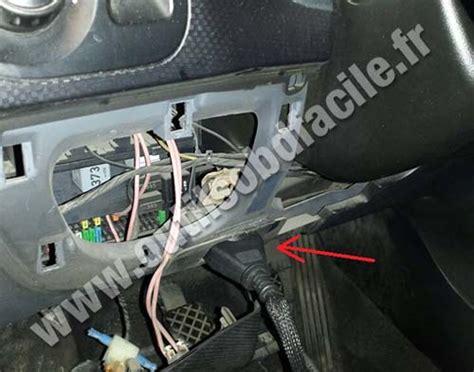 obd connector location  seat altea