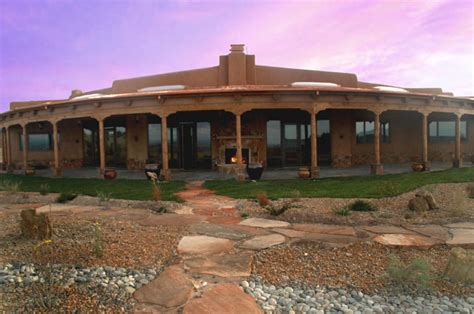Lovely Southwest Style Homes #8: Curved-portal-with-outdoor-fireplace-0.jpg