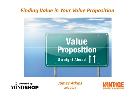 finding value in your value proposition