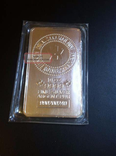10 Oz Silver Bar Value Canada - 10 oz royal canadian rcm 9999 silver bar